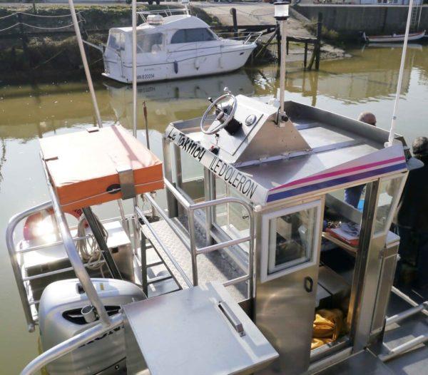 double poste de pilotage bateau ostreicole