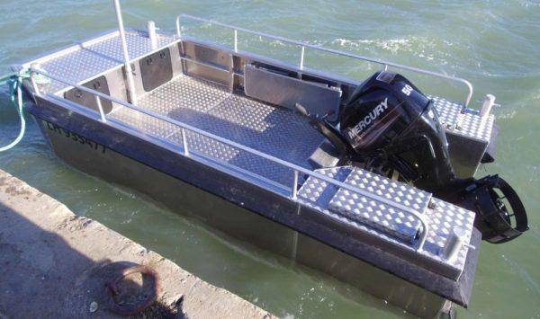 bateau aluminium pour reparation port