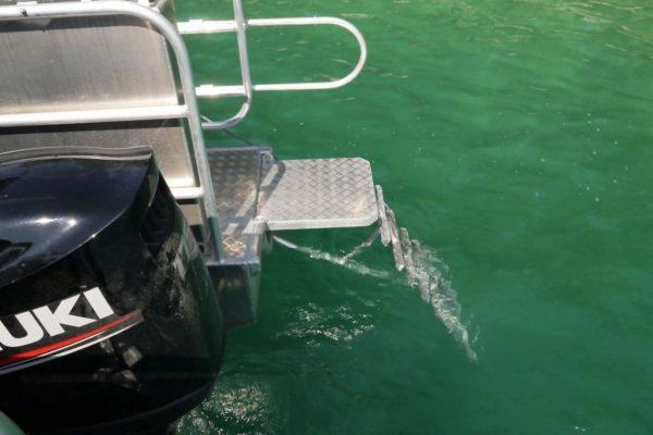 echelle de plongee bateau