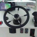 poste de pilotage bateau à moteur aluminium