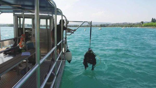 potence de levage bateau de plongee
