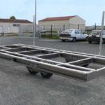 remorque aluminium transport bateau
